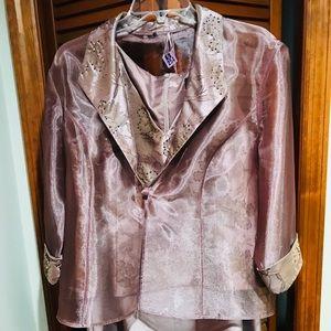 David's Bridal- Sleeveless Formal Dress w/jacket